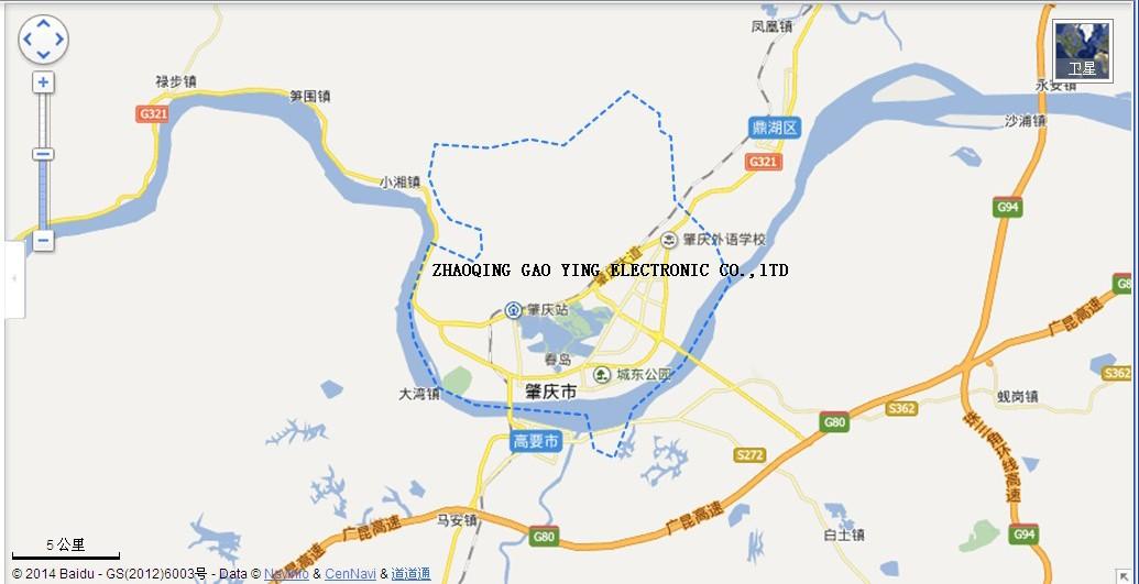 Zhaoqing Gaoying Electrolytic Coltd - Zhaoqing map